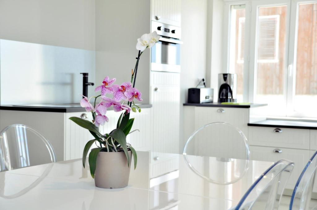 Küche/Küchenzeile in der Unterkunft Résidence La Plage d'Or
