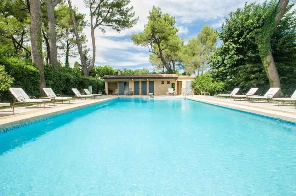 The swimming pool at or near Auberge De Noves Domaine Du Deves