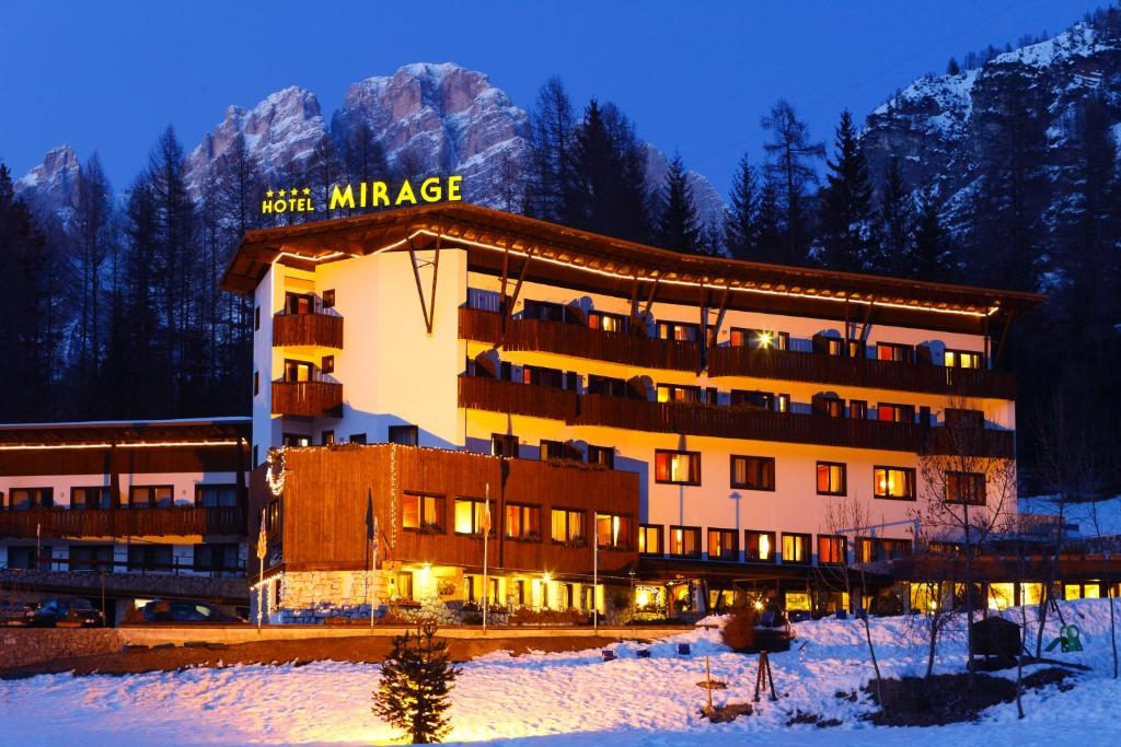 Hotel Mirage during the winter