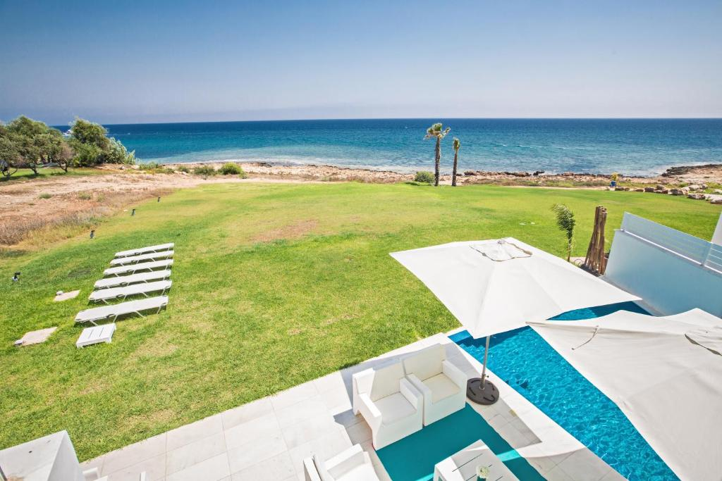 A view of the pool at Villa Larisa or nearby