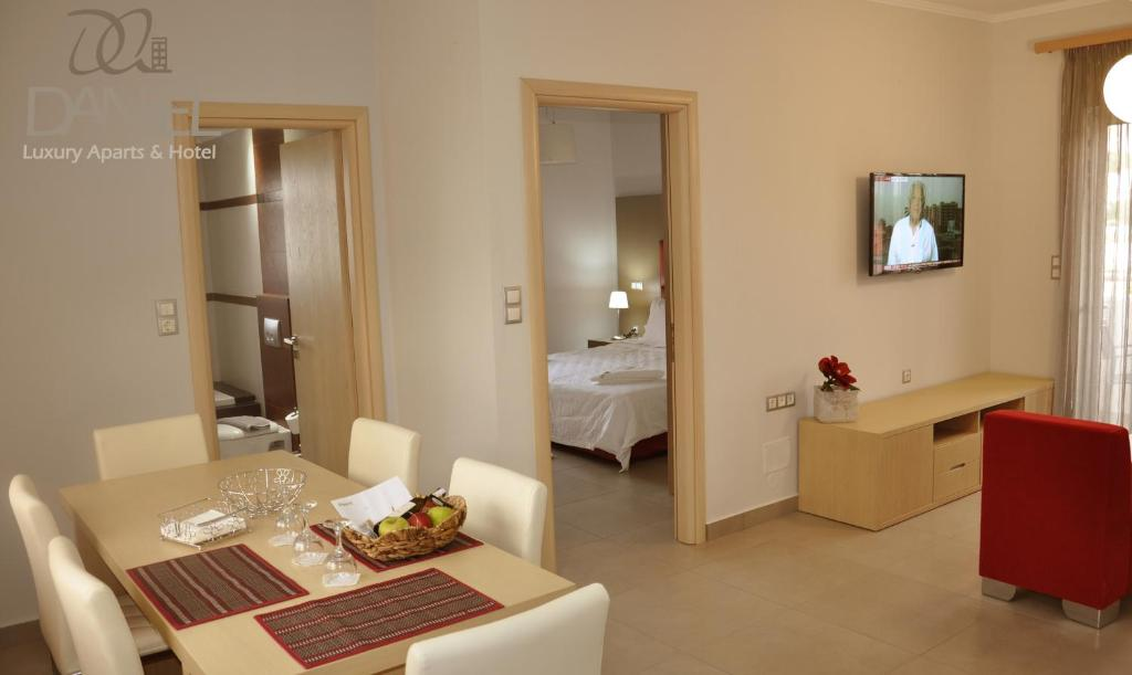A television and/or entertainment center at Daniel Luxury Apartments