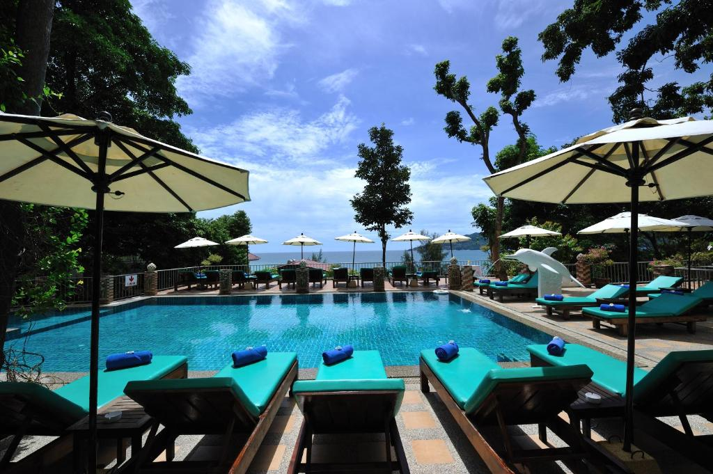 The swimming pool at or near Tri Trang Beach Resort