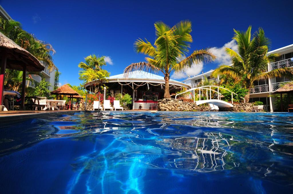 The swimming pool at or near The Melanesian Port Vila