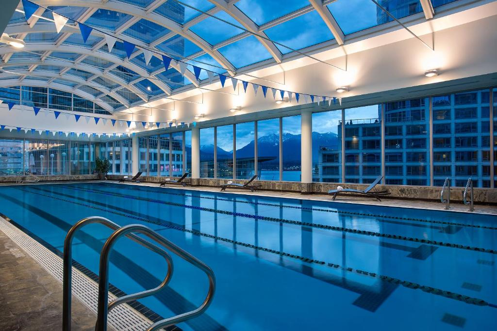 The swimming pool at or near Auberge Vancouver Hotel