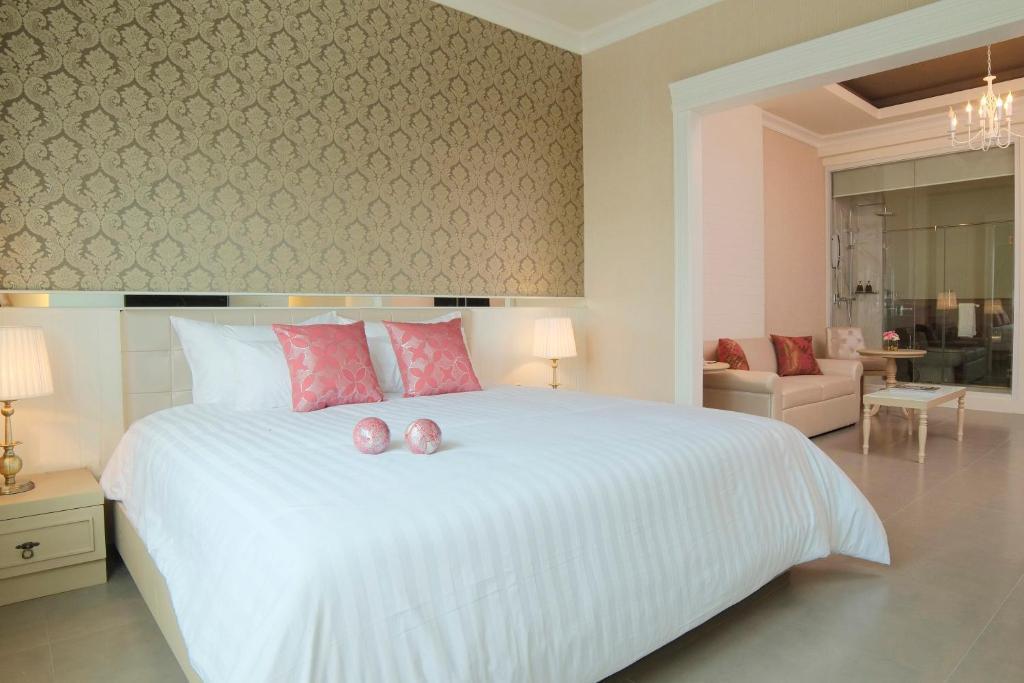 ザ ラヤ スラウォン バンコクにあるベッド