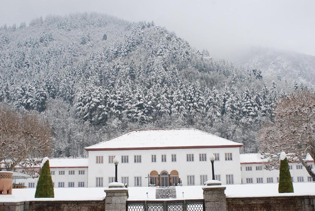 The LaLit Grand Palace Srinagar during the winter