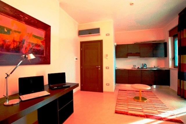 A television and/or entertainment center at Hotel Massimino