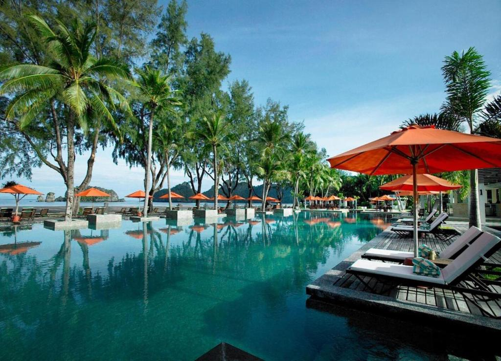 The swimming pool at or near Tanjung Rhu Resort