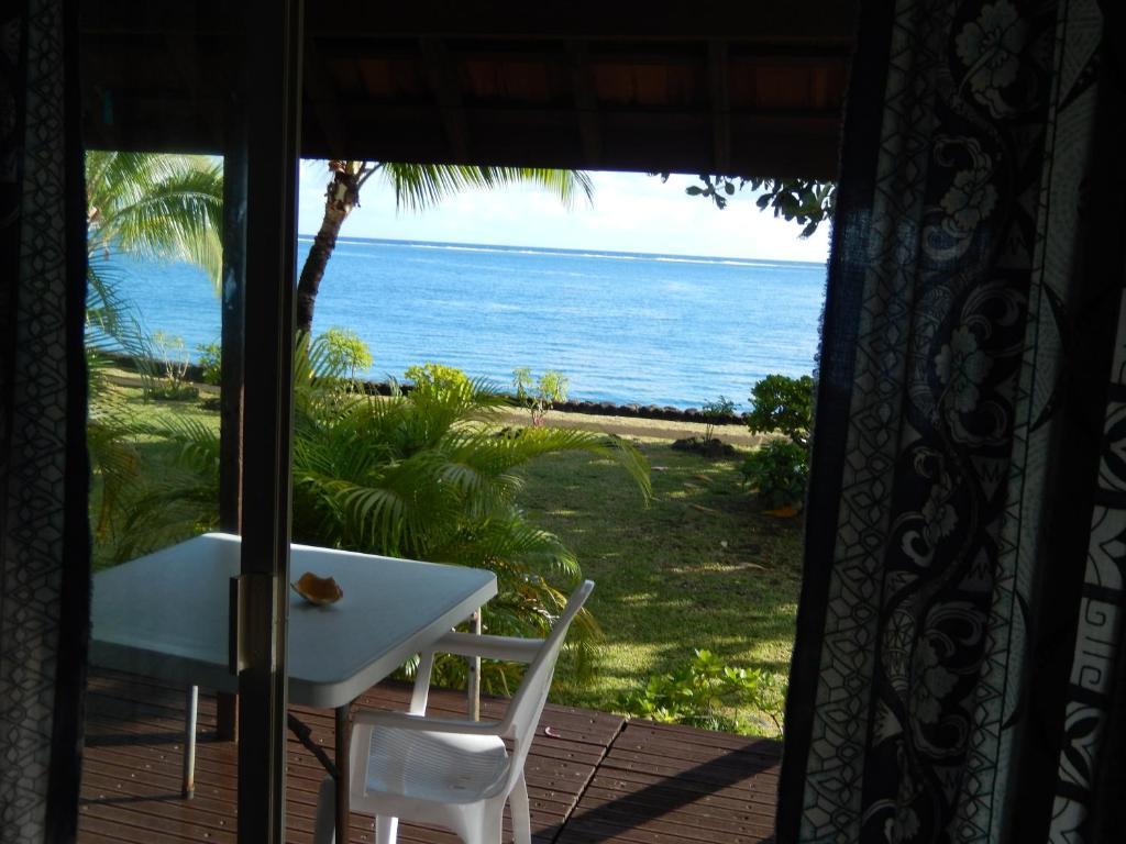 Ein Balkon oder eine Terrasse in der Unterkunft A Pueu Village