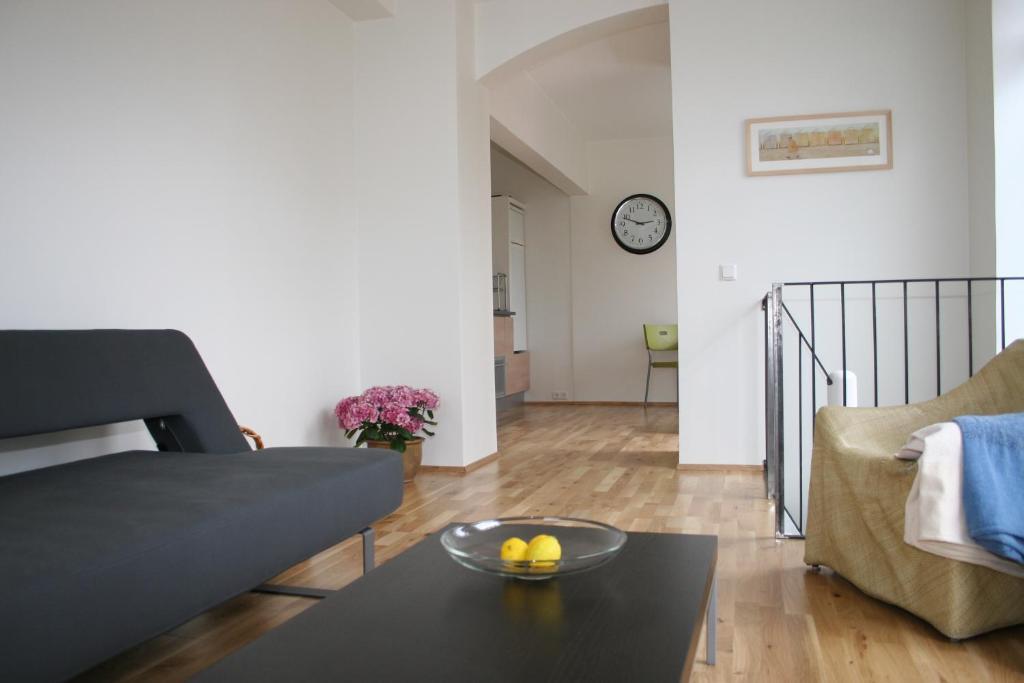 Posezení v ubytování V27 Apartment