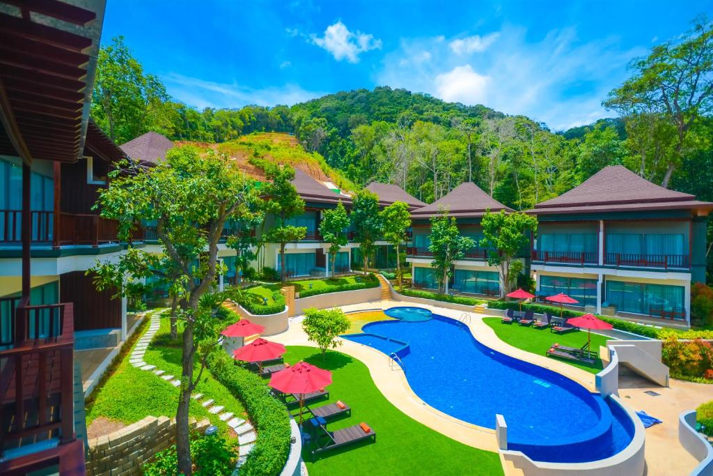A view of the pool at Crystal Wild Resort Panwa Phuket or nearby