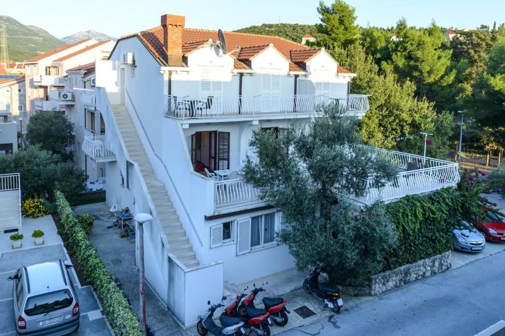 A bird's-eye view of Villa Adria
