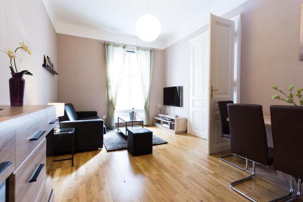 Ein Sitzbereich in der Unterkunft City Wohnung in perfekter Lage