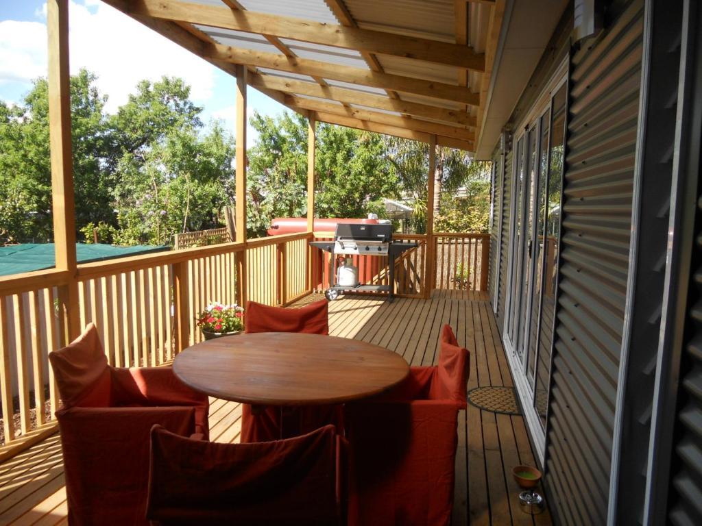 En balkon eller terrasse på Rosebank Bed and Breakfast