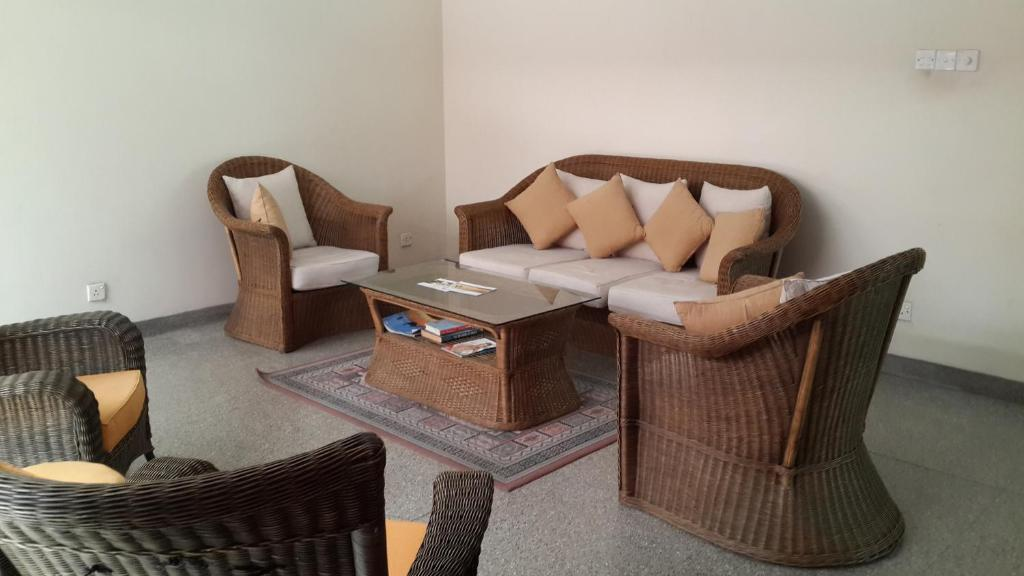 A seating area at Fife Residencies