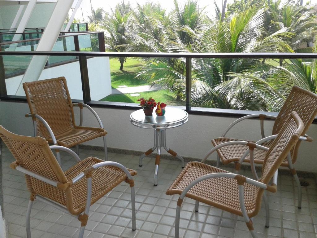 A balcony or terrace at Ancorar Apartment