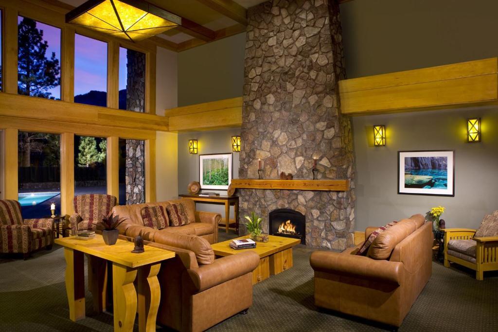 A seating area at Juniper Springs Resort