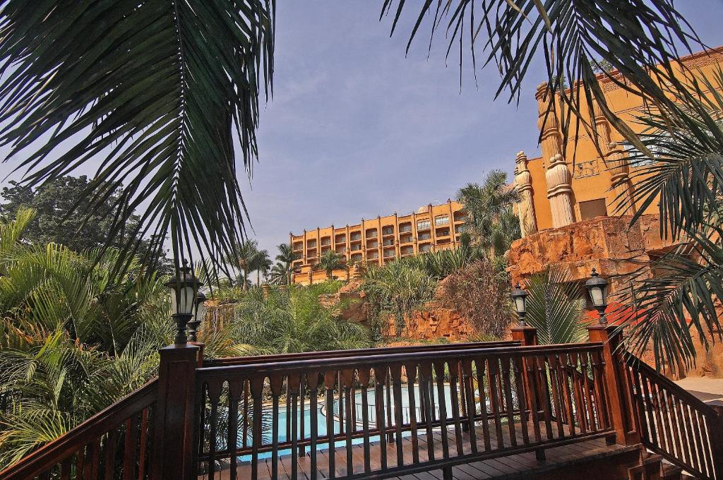 A balcony or terrace at Kampala Serena Hotel