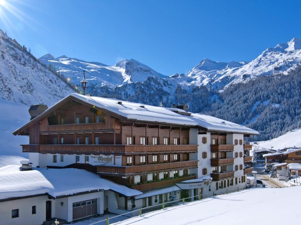 Hotel Alpenhof during the winter