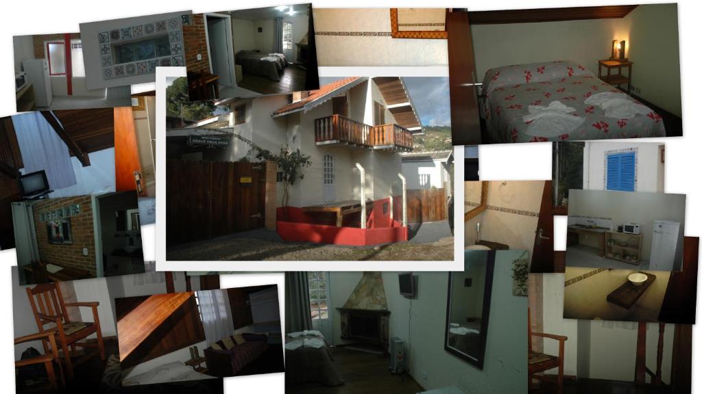 Divstāvu gulta vai divstāvu gultas numurā naktsmītnē Chalé Villa Xamã
