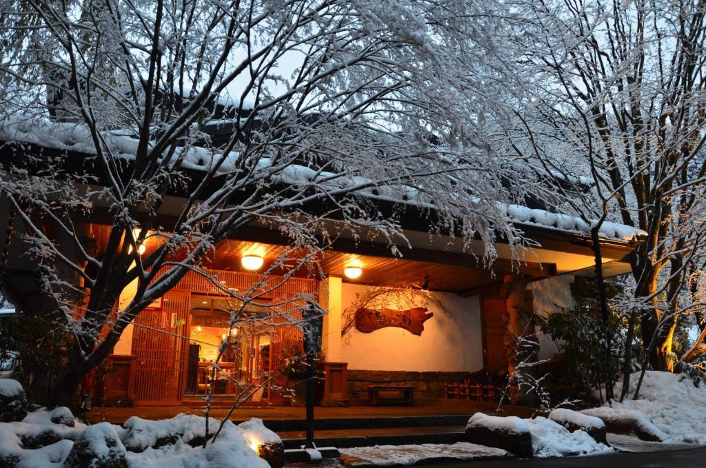 Kurokawa Onsen Oku no Yu during the winter