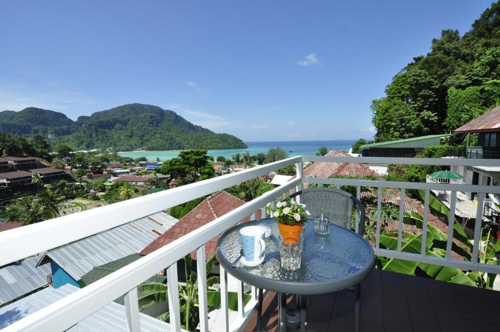 A balcony or terrace at Papaya Phi Phi Resort
