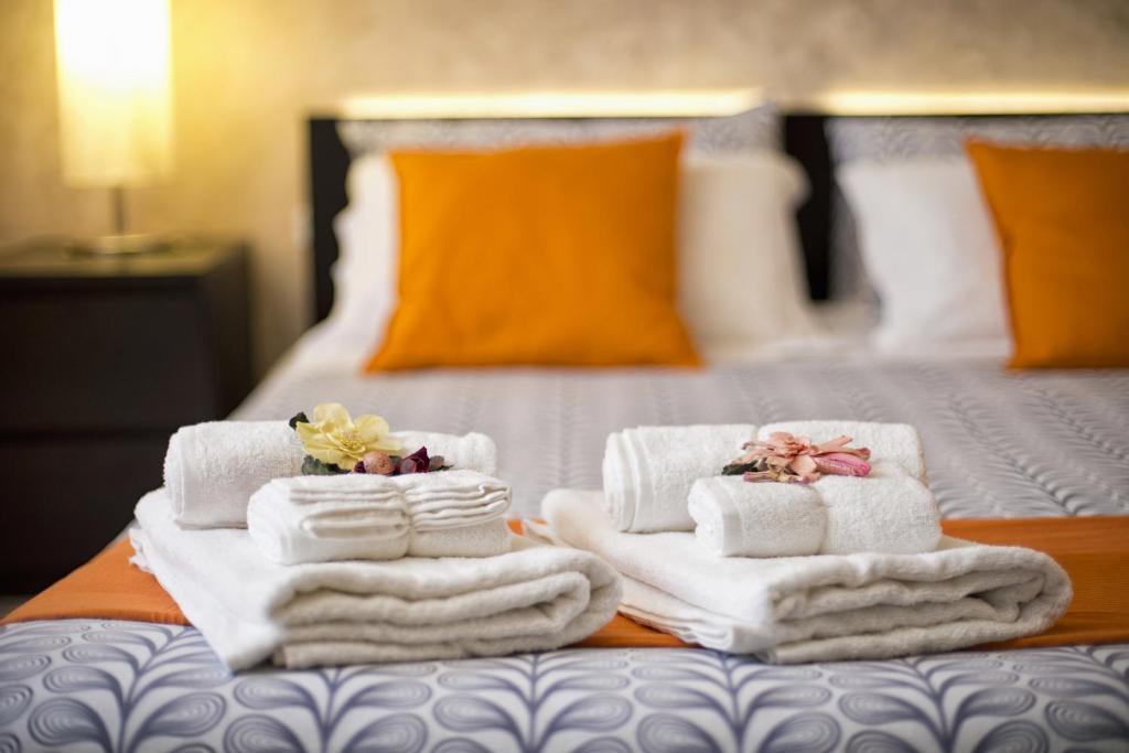 Un ou plusieurs lits dans un hébergement de l'établissement Affittacamere Il Vecchio Treno