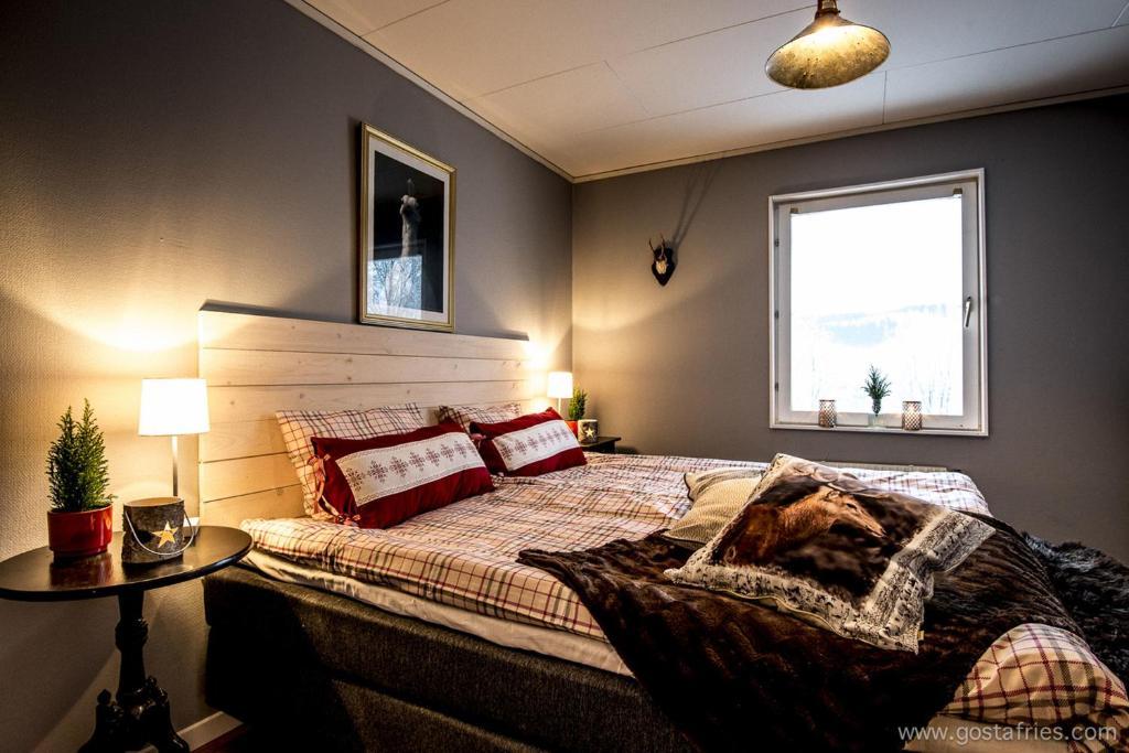 Säng eller sängar i ett rum på Åre Bed & Breakfast