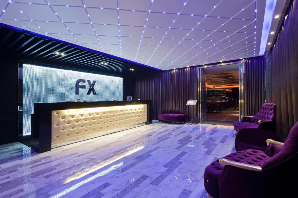 The lobby or reception area at FX Hotel Taipei Nanjing East Road Branch