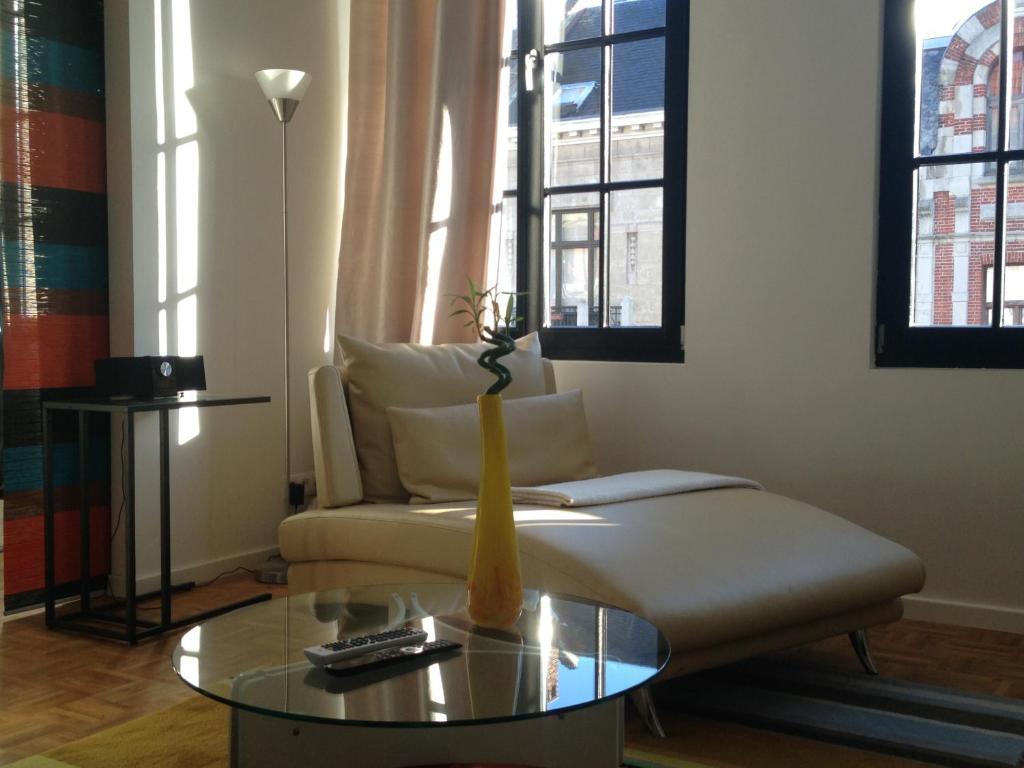 Cama o camas de una habitación en Apartment Number 22 Antwerp