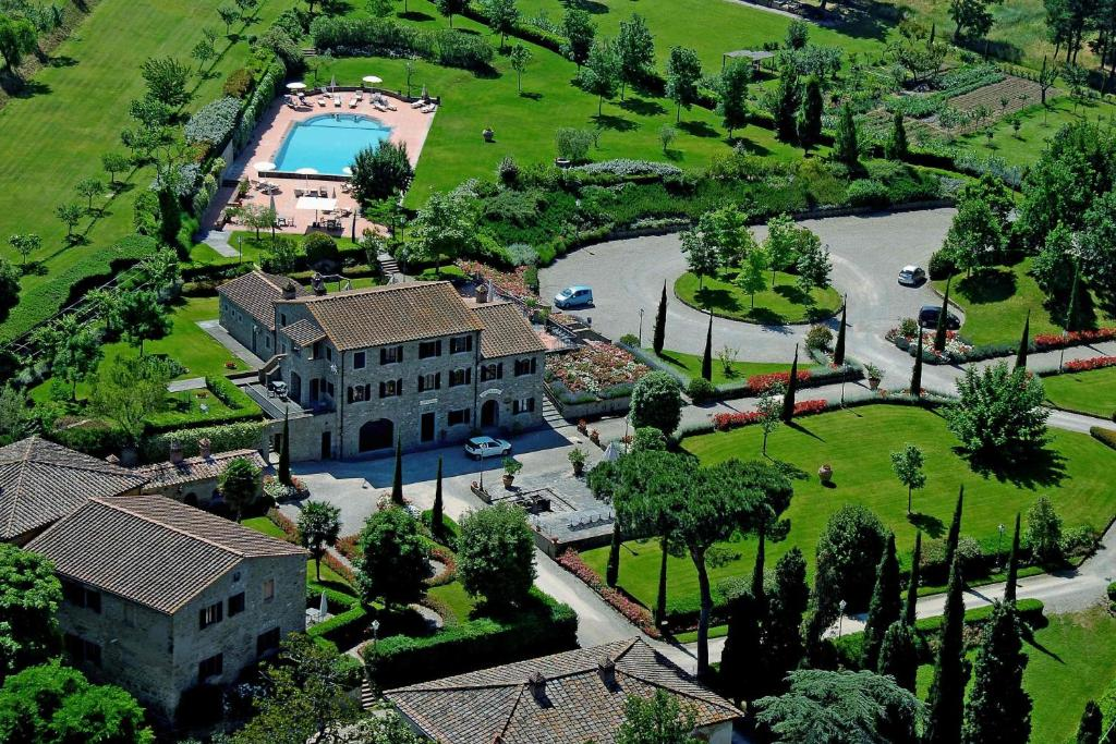 A bird's-eye view of Borgo Il Melone