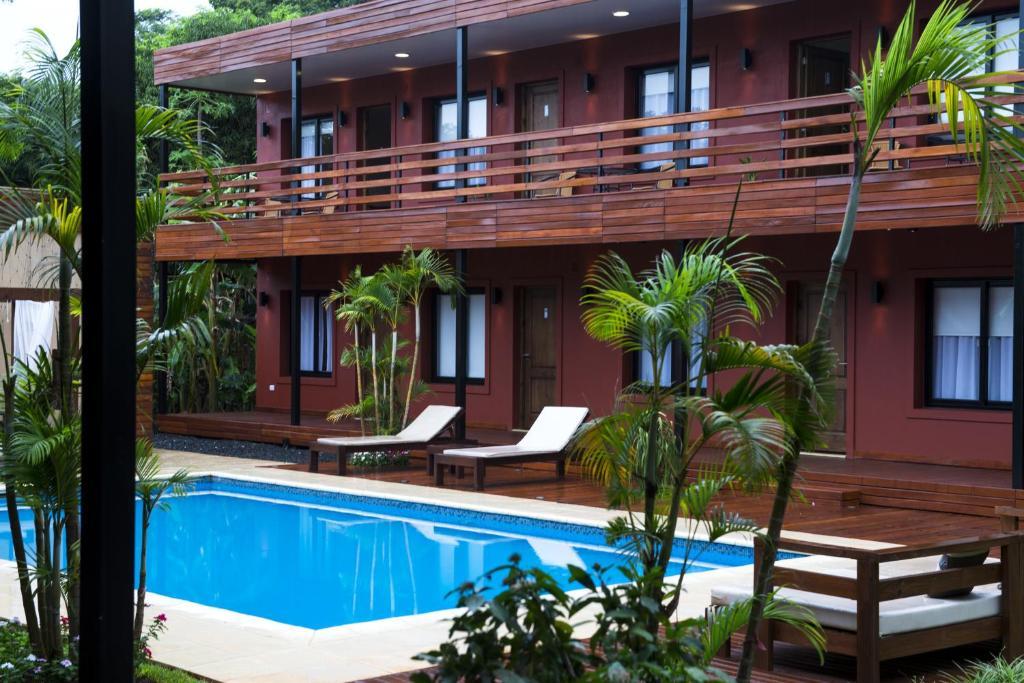 The swimming pool at or near Costa Iguazu