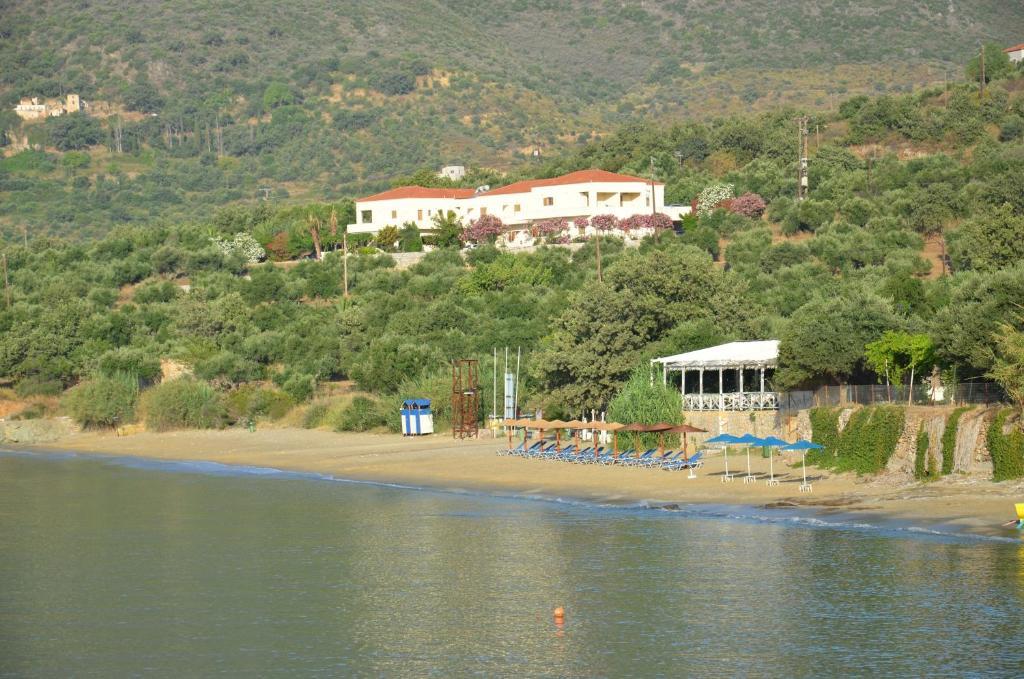 A bird's-eye view of Skoutari Beach Hotel