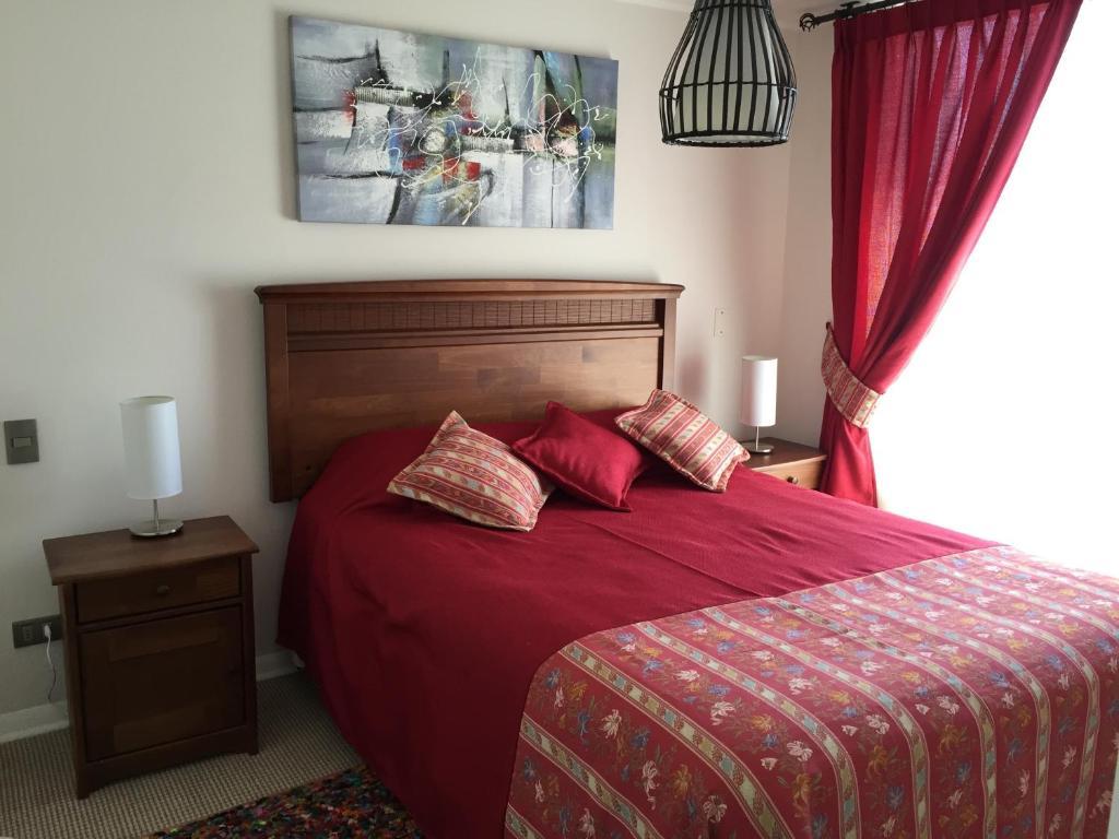 Cama o camas de una habitación en Apartment Las Heras