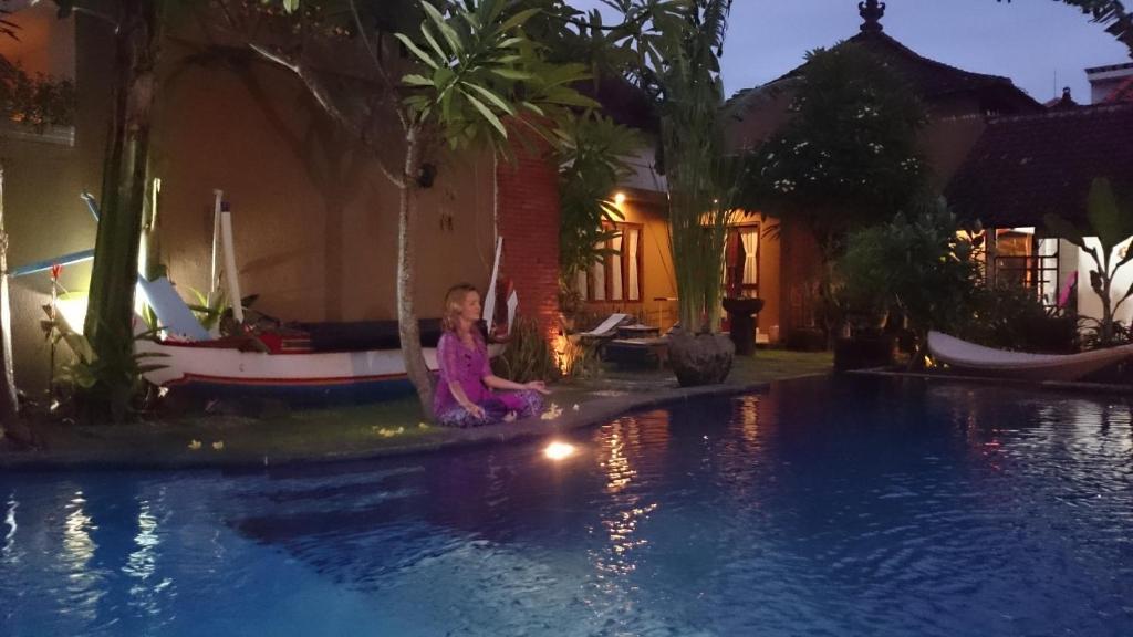 The swimming pool at or near Praschita Bali