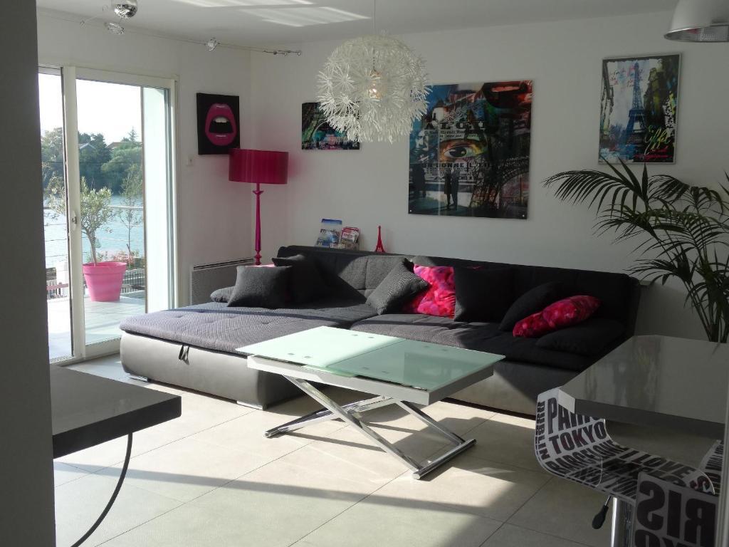 A seating area at Apartment L'Aquarius