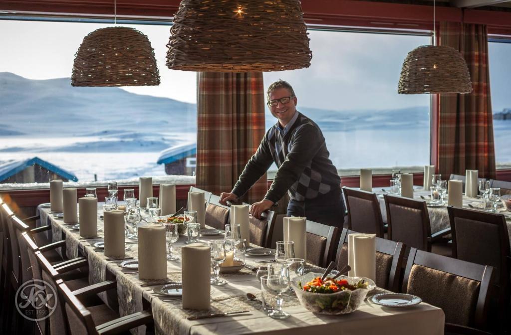 En restaurant eller et spisested på Bergsjøstølen Fjellstue