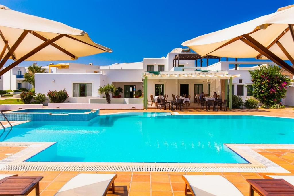 The swimming pool at or near Maltezana Beach Hotel