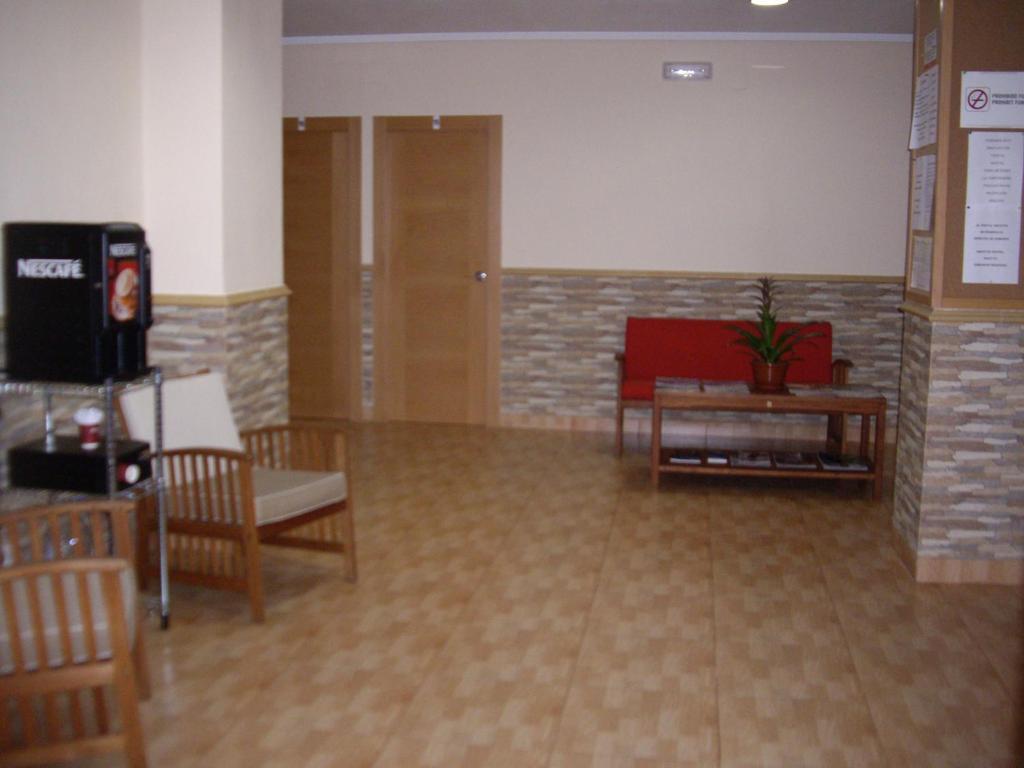 Area soggiorno di Hostal Abastos
