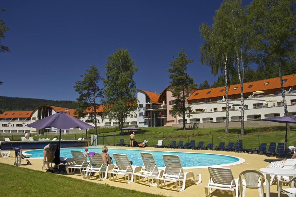 The swimming pool at or near Lipno Lake Resort