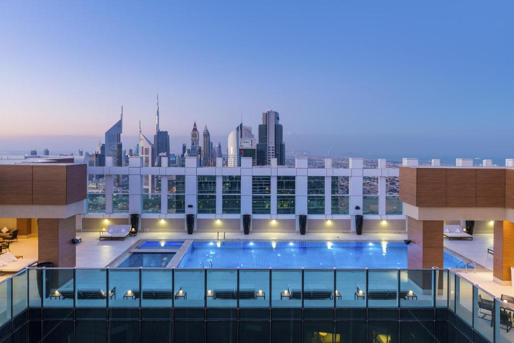 The swimming pool at or near Sheraton Grand Hotel, Dubai