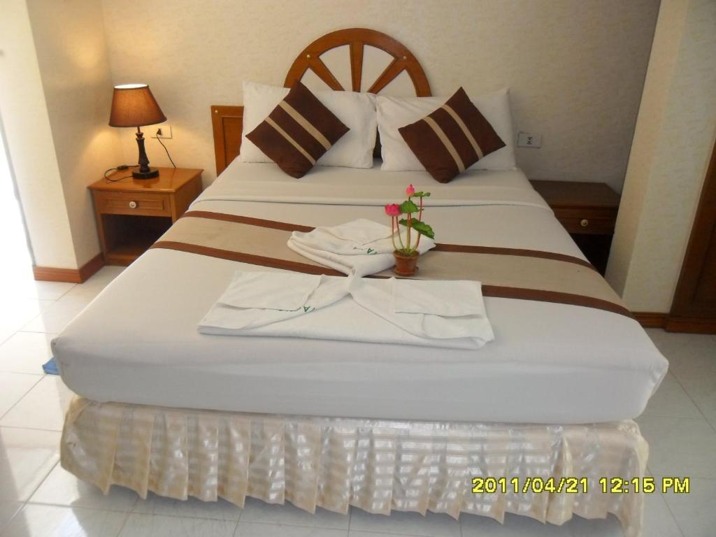 Cama o camas de una habitación en Natacha Hotel