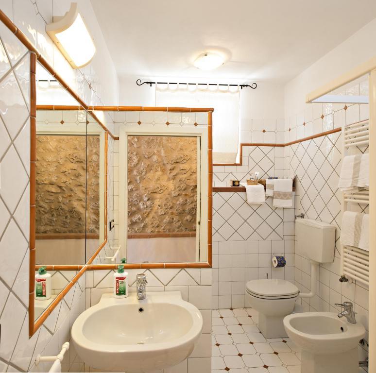 Salle de bains dans l'établissement B&B I Coppi