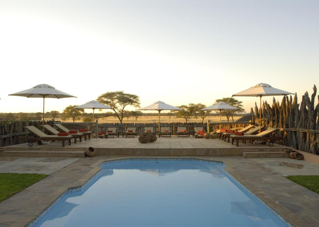 The swimming pool at or near Frans Indongo Lodge