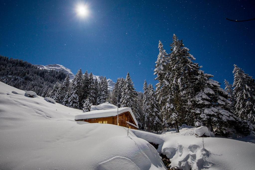 L'établissement Alpenlodge en hiver