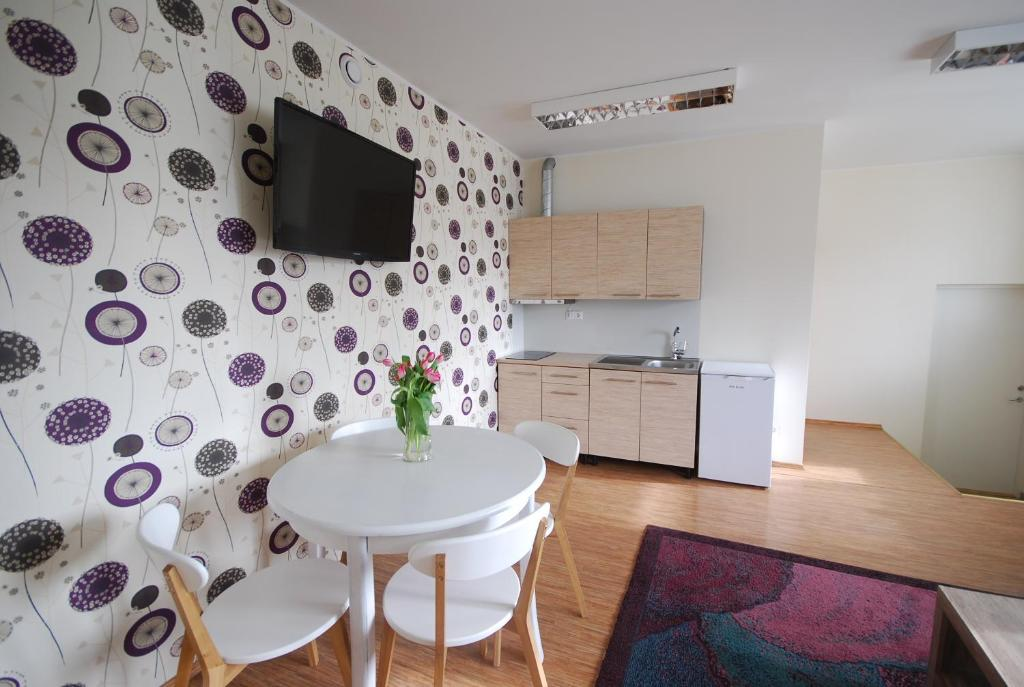 A kitchen or kitchenette at City Apartment