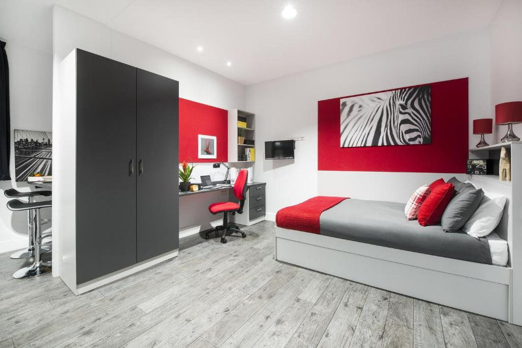 A seating area at Arran House - Campus Accommodation