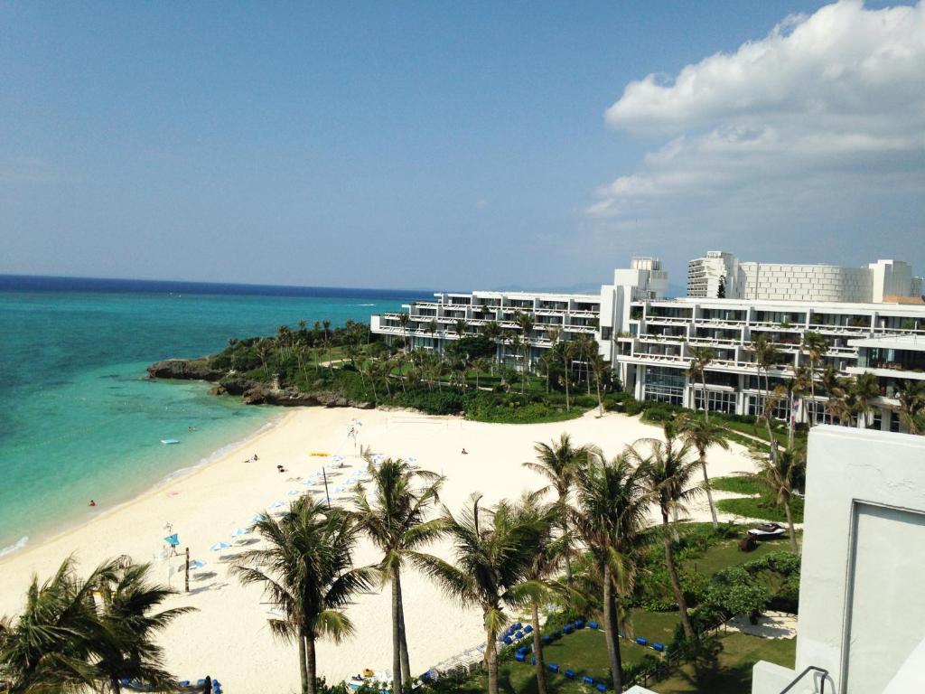 A bird's-eye view of Moon Beach Palace Hotel