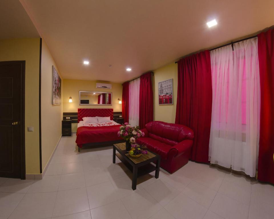 A seating area at Hotel Malina