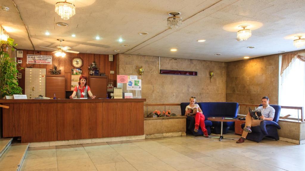 The lobby or reception area at Zvenigorodsky Resort